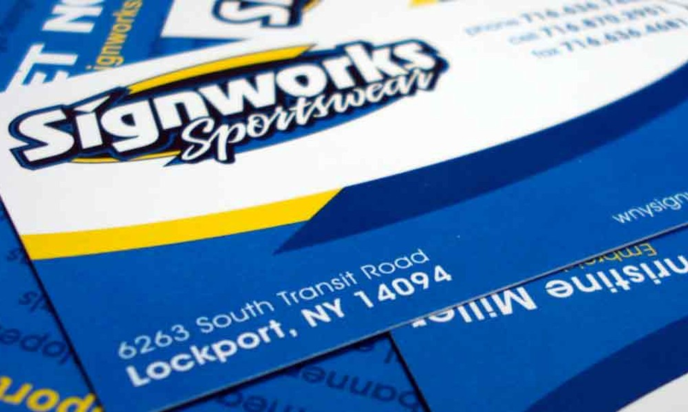 Business Cards by Signworks Sportswear in Lockport NY