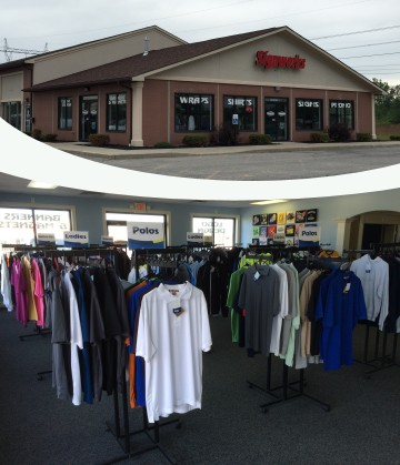 The Signworks Sportswear Location and Showroom in Lockport, NY