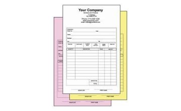 Custom Carbonless Documents by Signworks Sportswear in Lockport NY