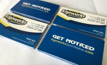 Custom Business Cards by Signworks Sportswear in Lockport NY